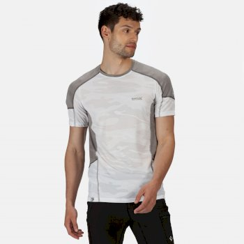 Men's Camito Active T-Shirt White Rock Grey