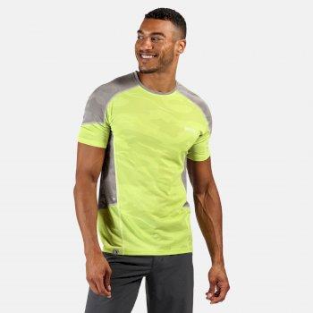 Men's Camito Active T-Shirt Elecric Lime Rock Grey
