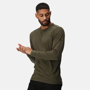 Męska koszulka bawełniana Karter II ciemne khaki