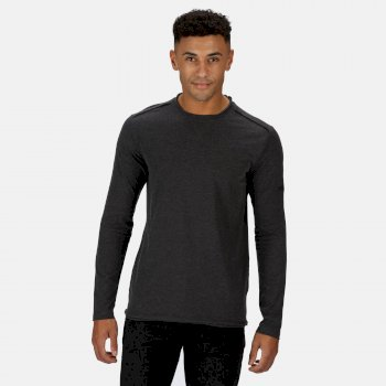 Men's Karter II Coolweave Lightweight Long Sleeve T-Shirt Black