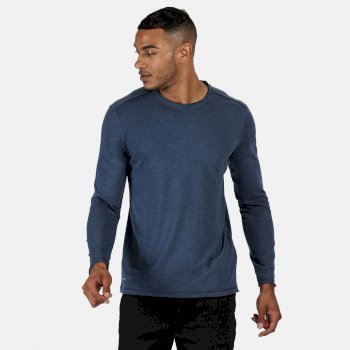 Men's Karter II Coolweave Lightweight Long Sleeve T-Shirt Dark Denim