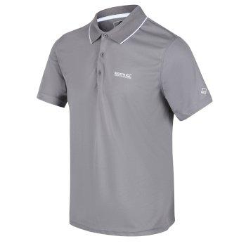 Men's Maverick V Active Polo Shirt Rock Grey