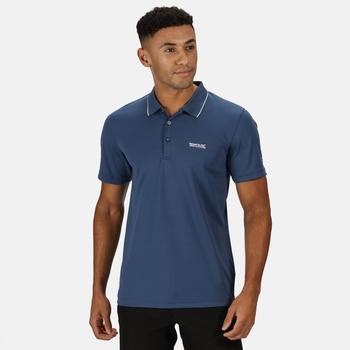 Men's Maverick V Active Polo Shirt Dark Denim