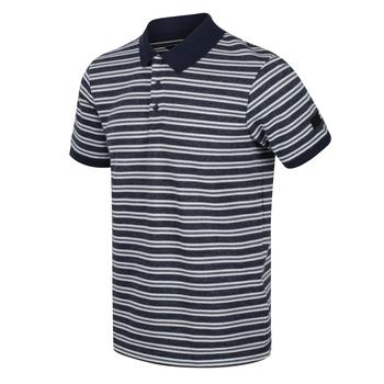 Men's Malak Striped Polo Shirt Navy Stripe