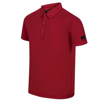 Men's Taiden II Coolweave Polo Shirt Delhi Red