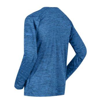 Męska koszulka z długim rękawem Burlow jasnoniebieska