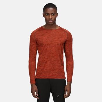 Men's Burlow Long Sleeved T-Shirt Cajun Orange