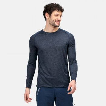 Men's Burlow Long Sleeved T-Shirt Moonlight Denim