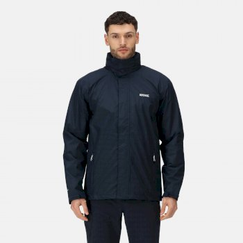 Men's Matt Lightweight Waterproof Shell Hooded Walking Jacket Navy