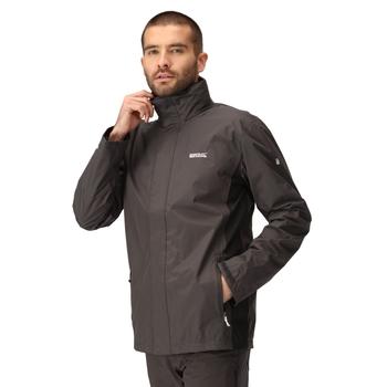 Men's Matt Waterproof Jacket Ash Black