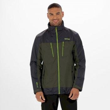 Calderdale II Waterproof Jacket with Concealed Hood Racing Green Seal Grey
