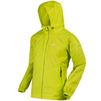 Lyle III Breathable Waterproof Shell Jacket with Concealed Hood Lime Zest