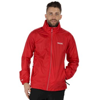 Lyle III Breathable Waterproof Shell Jacket with Concealed Hood Pepper Red
