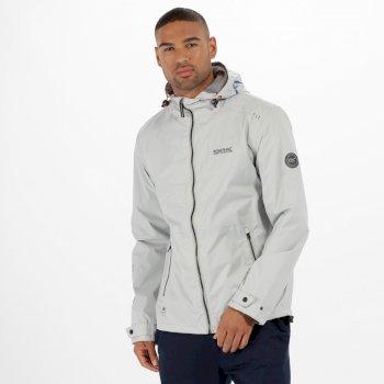 Mackson Hooded Waterproof Jacket Light Steel