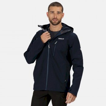 Men's Birchdale Waterproof Shell Hooded Walking Jacket Dark Denim