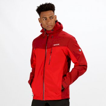 Men's Birchdale Waterproof Hooded Jacket Delhi Red Classic Red