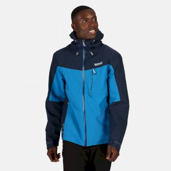 Men's Birchdale Waterproof Shell Hooded Walking Jacket Imperial Blue Nightfall Navy