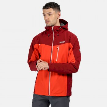Men's Birchdale Waterproof Hooded Walking Jacket Burnt Salmon Delhi Red