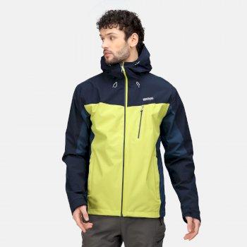 Men's Birchdale Waterproof Jacket Dark Tang Navy Moonlight Denim
