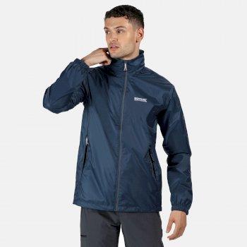 Men's Lyle IV Waterproof Packaway Jacket Dark Denim
