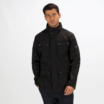Men's Eldridge Lightweight Waterproof Jacket with Concealed Hood Black