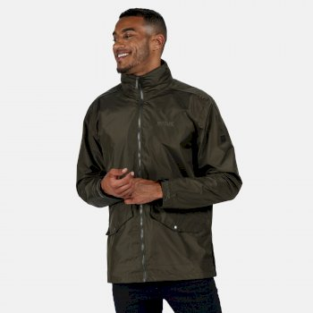 Men's Hartigan Lightweight Waterproof Jacket with Concealed Hood Dark Khaki
