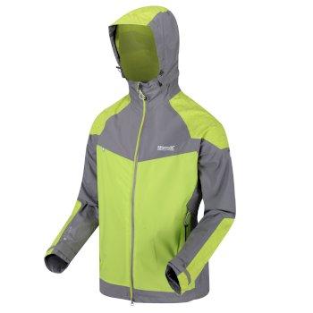 527e06619dfb9 Men's Oklahoma IV Reflective Lightweight Waterproof Jacket Rock Grey Lime  Punch