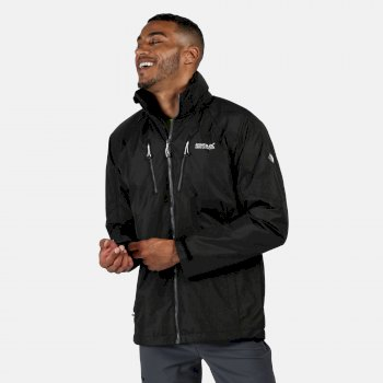 Men's Calderdale III Lightweight Waterproof Walking Jacket with Concealed Hood Black