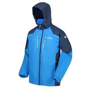 Men's Calderdale III Lightweight Waterproof Walking Jacket with Concealed Hood Imperial Blue Nightfall Navy