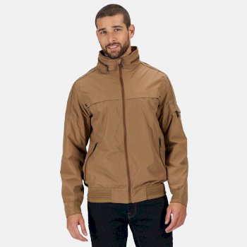 Men's Montel Waterproof Bomber Jacket Dark Camel
