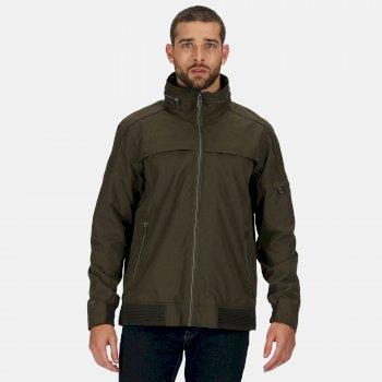 Men's Montel Waterproof Bomber Jacket Dark Khaki