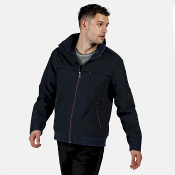 Men's Montel Waterproof Bomber Jacket Navy