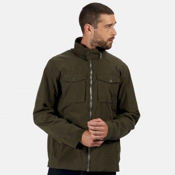 Men's Haldor Waterproof Jacket with Concealed Hood Dark Khaki