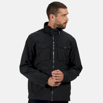 Men's Haldor Waterproof Jacket with Concealed Hood Black