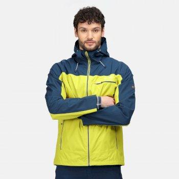Męska kurtka przeciwdeszczowa Highton Stretch żółta