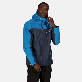 Men's Highton Stretch Waterproof Shell Hooded Walking Jacket Nightfall Navy Imperial Blue
