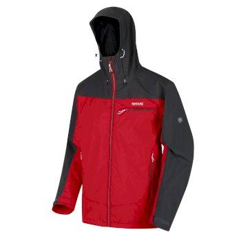 Men's Highton Waterproof Jacket Chinese Red Ash