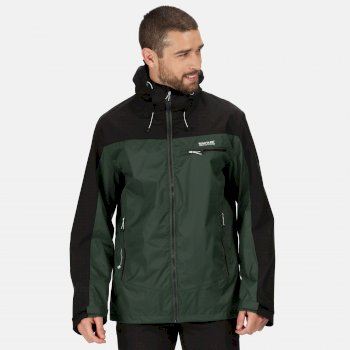 Men's Highton Waterproof Jacket Deep Forest Black