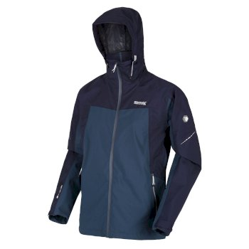 Men's Oklahoma VI Waterproof Shell Hooded Walking Jacket Dark Denim Navy