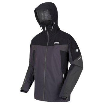 Men's Oklahoma VI Waterproof Shell Hooded Walking Jacket Ash Black