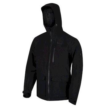 Men's Pulton Waterproof Shell Hooded Walking Jacket Black