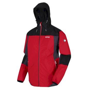 Men's Imber VI Lightweight Waterproof Shell Hooded Walking Jacket Chinese Red Black