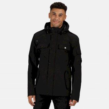 Men's Matthias Waterproof Hooded Jacket Black