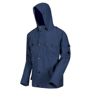 Men's Matthias Waterproof Hooded Jacket Dark Denim