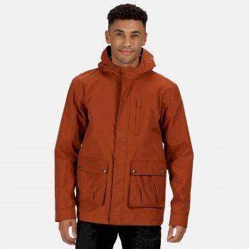 Men's Bazyl II Waterproof Hooded Shell Jacket Gingerbread