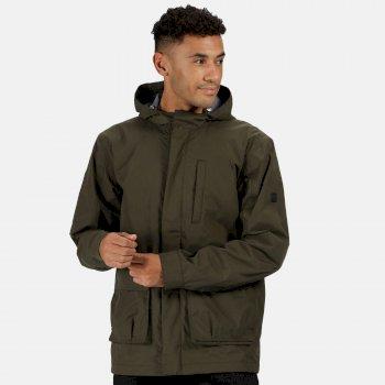 Men's Bazyl II Waterproof Hooded Shell Jacket Dark Khaki