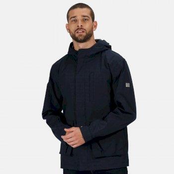 Men's Bazyl II Waterproof Hooded Shell Jacket Navy