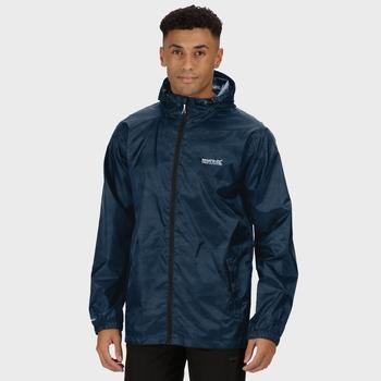 Men's Printed Pack-It Waterproof Jacket Dark Denim Camo