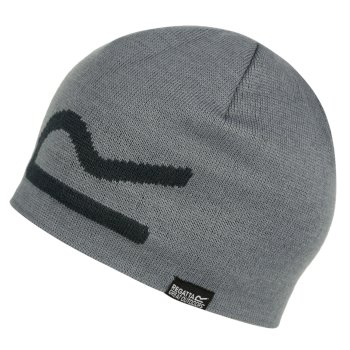 Adults Brevis Acrylic Knit Beanie Hat Rock Grey