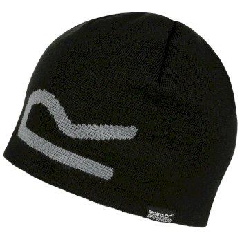 Brevis Acrylic Knit Beanie Black